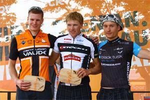 Konny Looser, Matthias Leisling, Rupert Palmberger – Sieger SportScheck MountainBIKE Festival Tegernseer Tal 2012 (Foto: Sportograf.de)